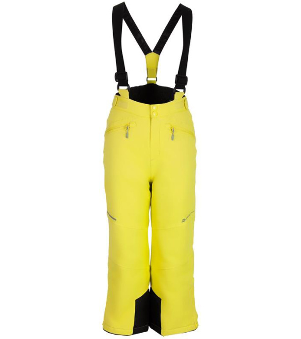 ALPINE PRO ANIKO 2 Dětské lyžařské kalhoty KPAM122564 Sulphur spring 128-134