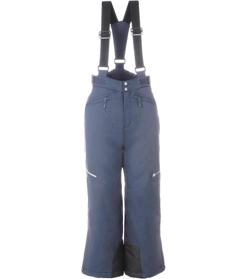ALPINE PRO ANIKO 2 Dětské lyžařské kalhoty KPAM122602 mood indigo 128-134