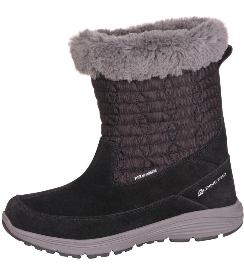 ALPINE PRO PORTIA Dámská zimní obuv LBTM184990 černá 37