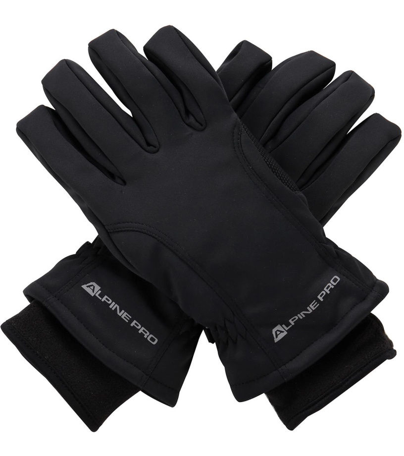 ALPINE PRO KAHUGEN Unisex lyžařské rukavice UGLM006990 černá M
