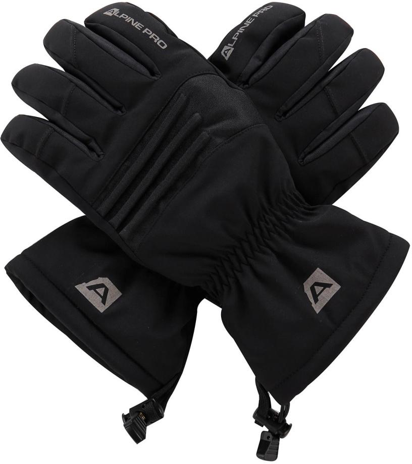 ALPINE PRO KAROG Unisex lyžařské rukavice UGLM013990 černá M