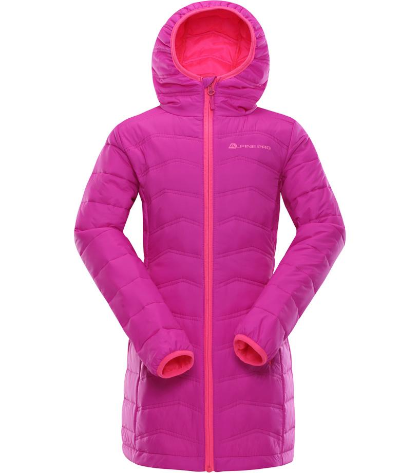 ALPINE PRO ADRIANNO 2 Dětský kabát KCTK006411 fuchsiová 92-98