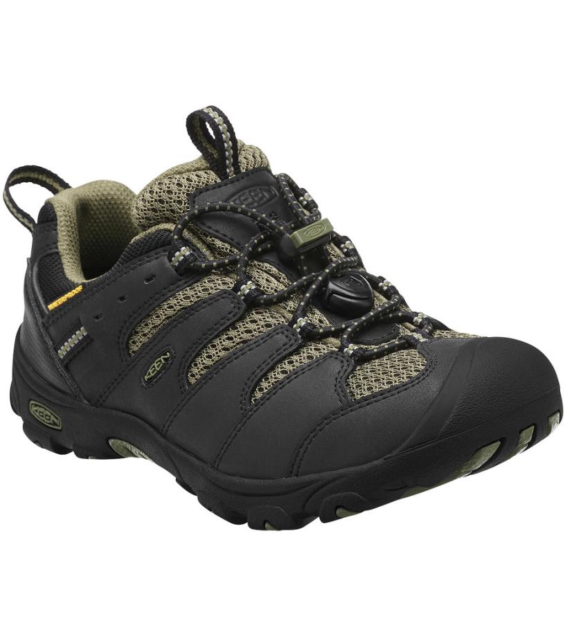 KEEN Koven Low WP K Dětské trekové boty KEN1203072201 black/burnt olive 9(27/28)