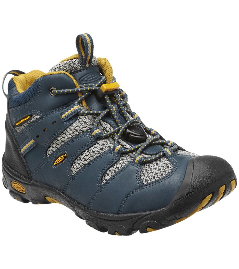 KEEN Koven Mid WP K Dětské trekové boty KEN1204072401 midnight navy/tawny olive 10(29)
