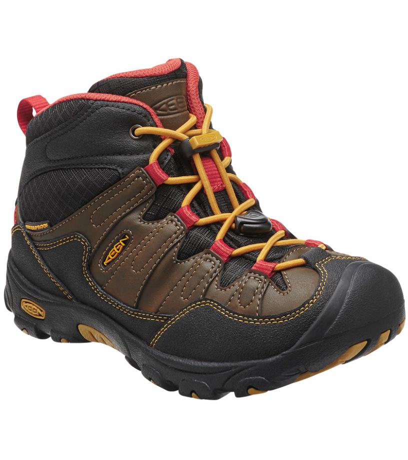 KEEN Pagosa Mid WP K Dětské trekové boty KEN1204073402 cascade brown/tawny olive 9(27/28)