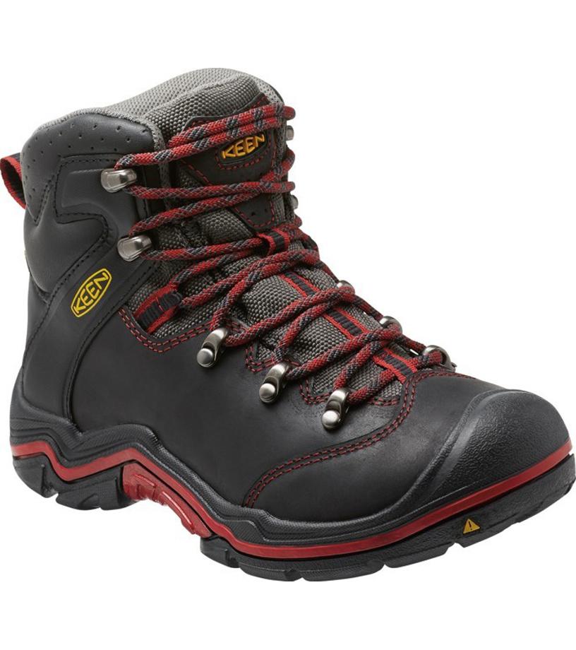 KEEN TORINO MID WP JR Dětské zimní boty KEN1204115301 black/red dahlia 4(37)