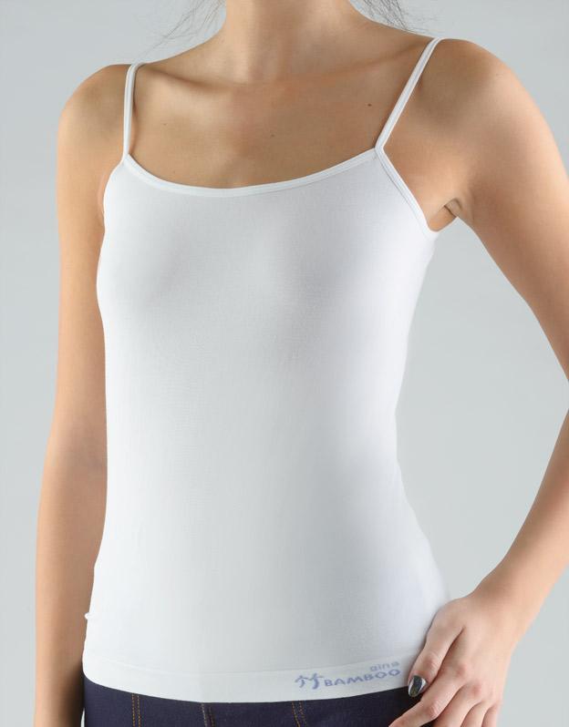 GINA Dámská košilka 08988-MxBLGM Bílá-ocelová S/M