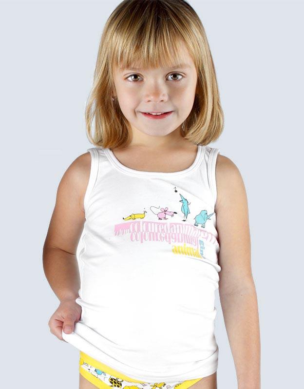 GINA Tílko dětské 28002-MxB bílá