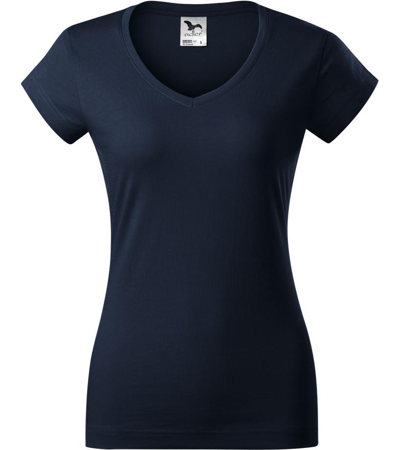 ADLER FIT V-NECK Dámské triko 16202 námořní modrá