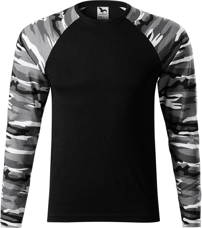 ADLER Camouflage LS Triko unisex 16632 camouflage gray L 92b606d96c5