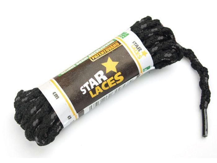 PROMA Tkaničky (šněrovadla) STAR LACES SLIM 123p0112 černo-tm.šedá 180 cm