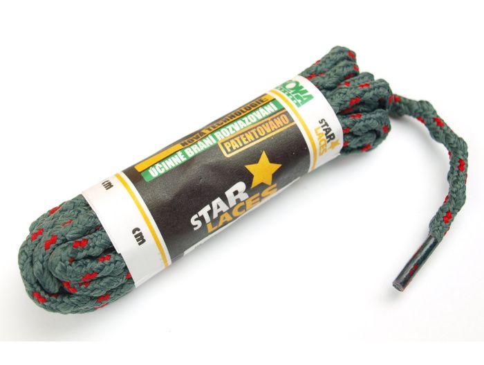 PROMA Tkaničky (šněrovadla) STAR LACES SLIM 123p0307 šedo-červená 120 cm
