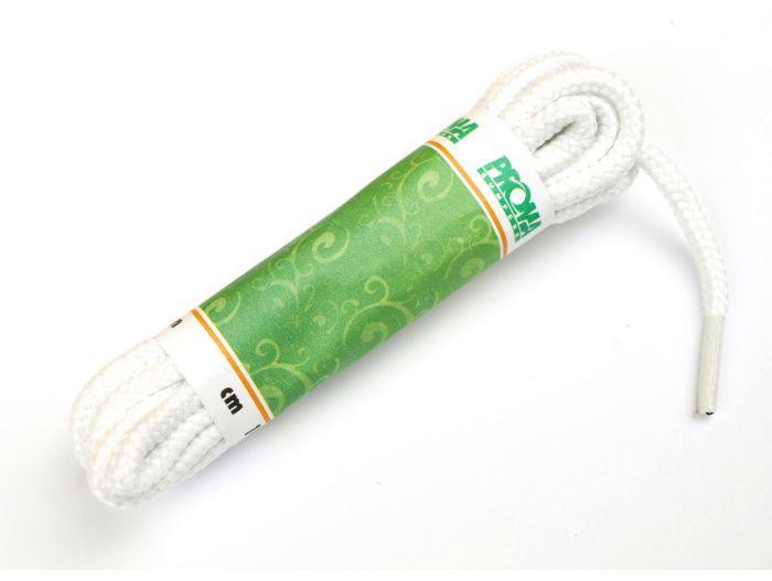 PROMA Šněrovadla (tkaničky) SPORT kulatá 170p0000 bílá 120 cm