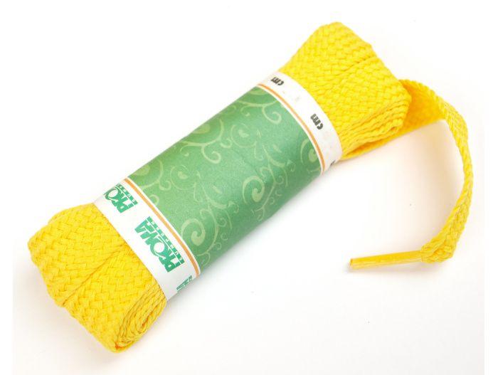 PROMA Skate široké šněrovadla (tkaničky) 230p0404 žlutá 140 cm