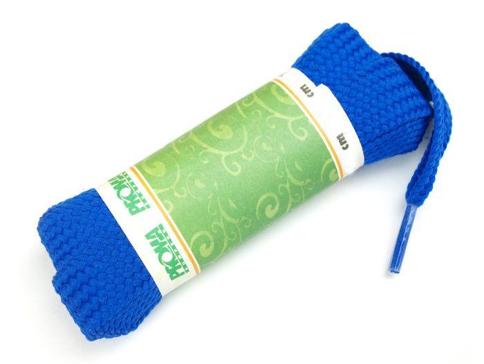 PROMA Skate široké šněrovadla (tkaničky) 230p0505 modrá 140 cm