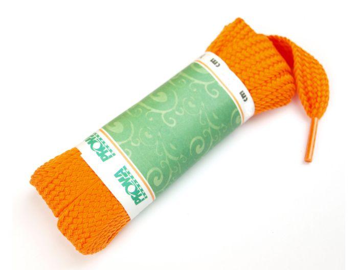 PROMA Skate široké šněrovadla (tkaničky) 230p1111 oranžová 140 cm