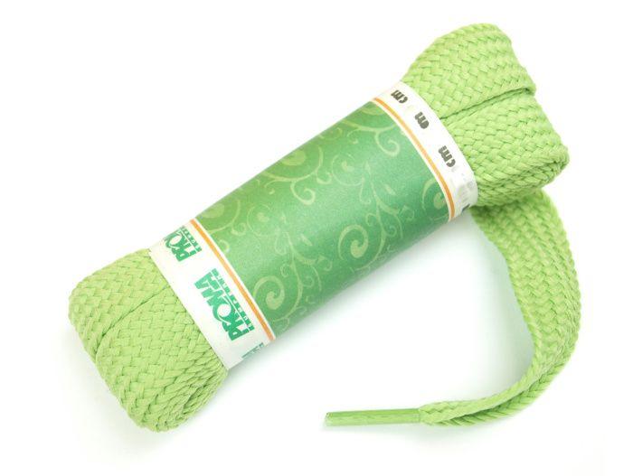 PROMA Skate široké šněrovadla (tkaničky) 230p3939 fashion zelená 140 cm