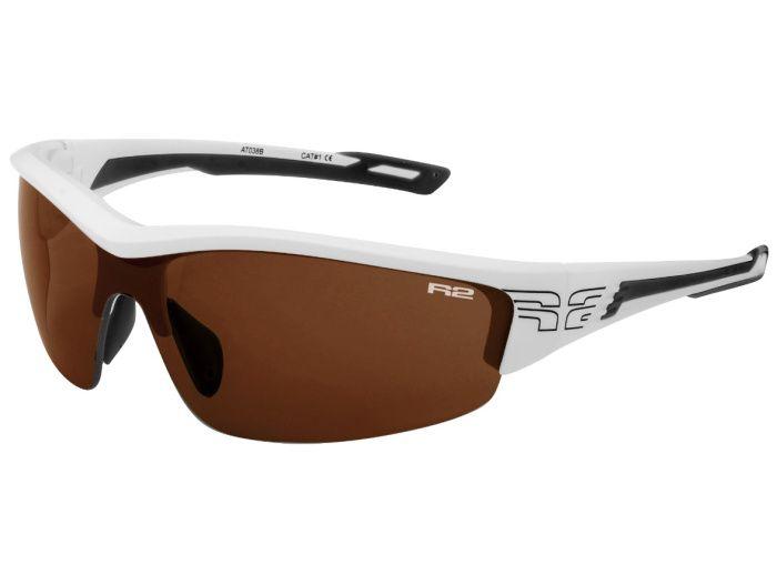 R2 WHEELLER Sportovní sluneční brýle AT038B černo bílá