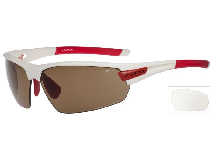 RELAX Imbros Sportovní sluneční brýle R5387B červeno bílá