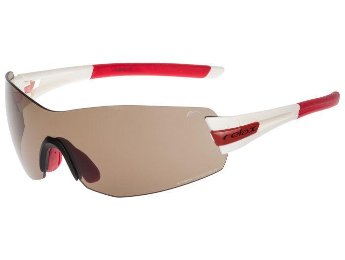 RELAX Sarnia Sportovní sluneční brýle R5388B červeno bílá