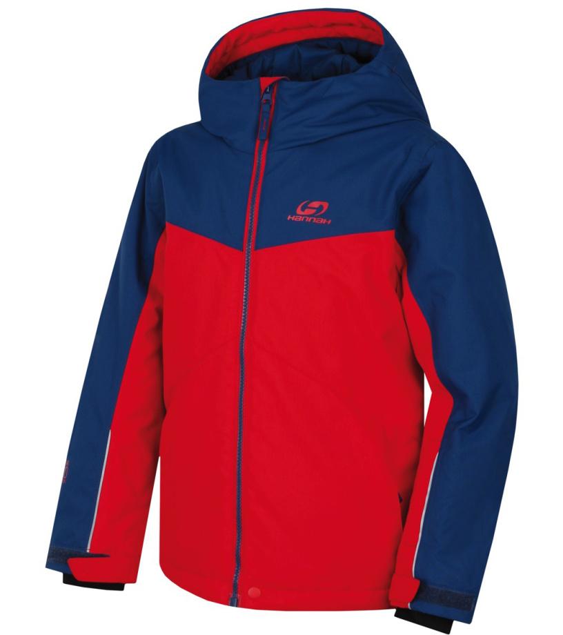 HANNAH RAFFAELA JR Dětská lyžařská bunda 10000262HHX01 racing red/poseidon 140