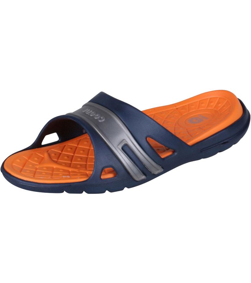 COQUI KOVY Pánské pantofle 493-342 Navy/Orange 39