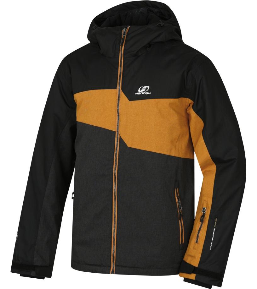 HANNAH Yole Pánská lyžařská bunda 217HH0203HJ01 Black mel/anthracite