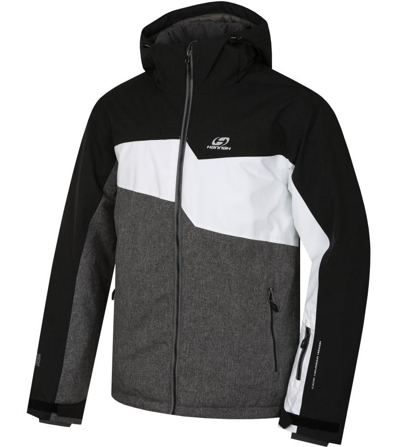 HANNAH Yole Pánská lyžařská bunda 217HH0203HJ02 Cloudburst mel/black mel