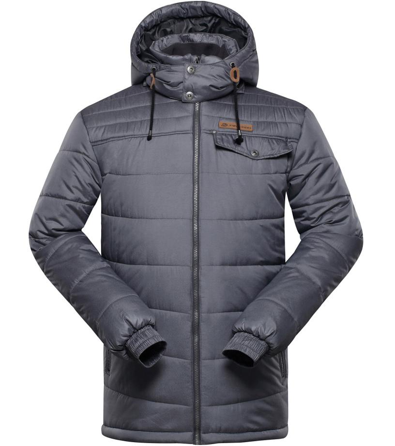 ALPINE PRO ALTOMARE 3 Pánská zimní bunda MJCH154779 tmavě šedá M