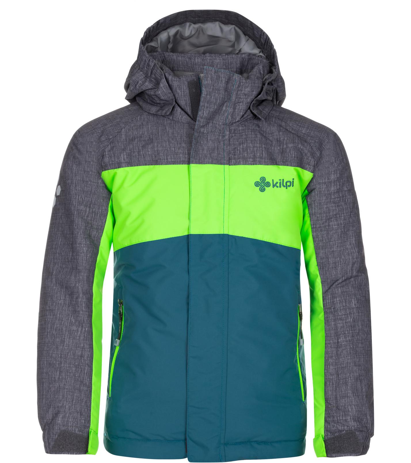 KILPI Chlapecká lyžařská bunda OBER-JB LJ0012KITRQ Tyrkysová 146