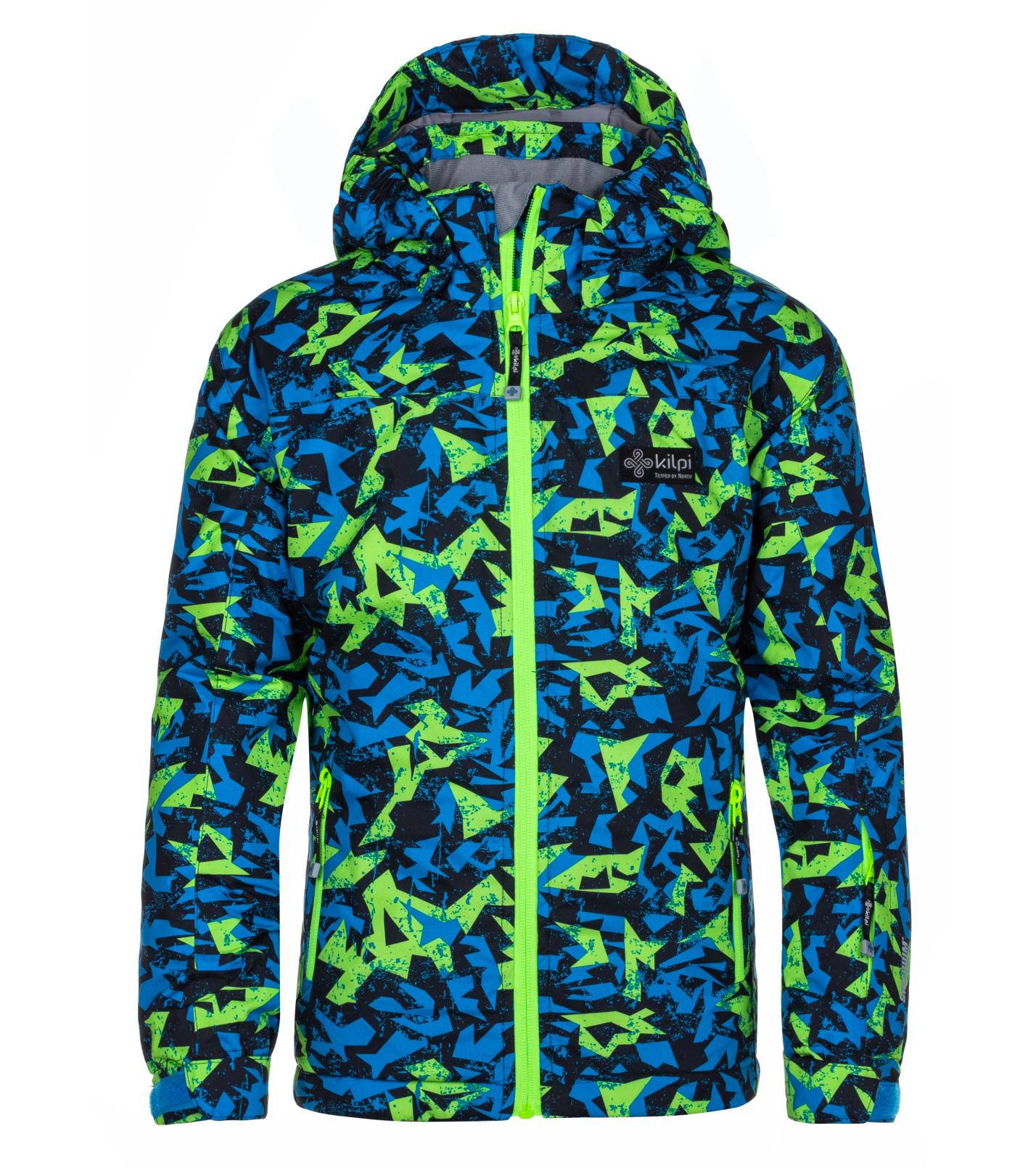 KILPI Chlapecká lyžařská bunda ATENI-JB LJ0013KIGRN Zelená 146