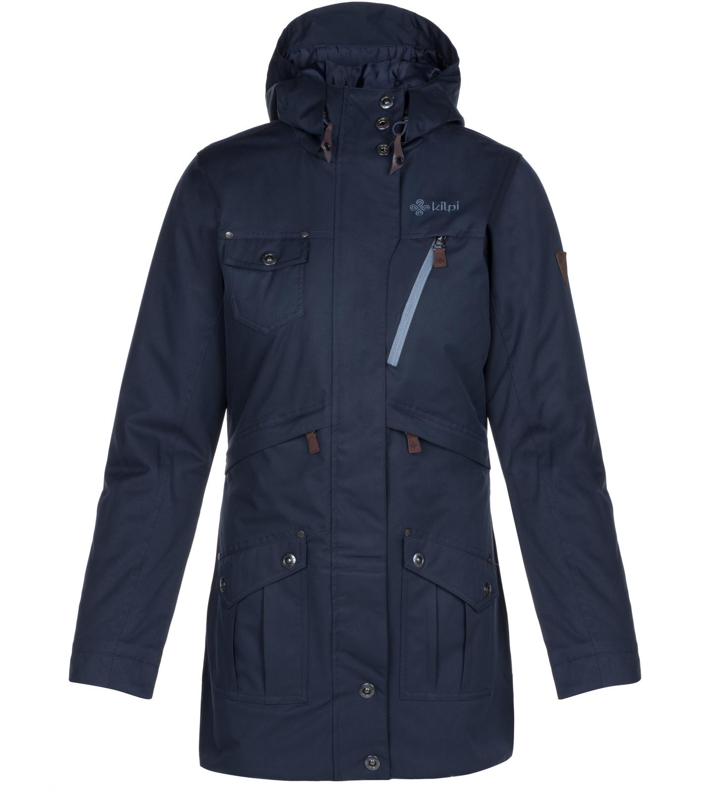 KILPI Dámský kabát BRASIL-W LL0086KIDBL Tmavě modrá 36