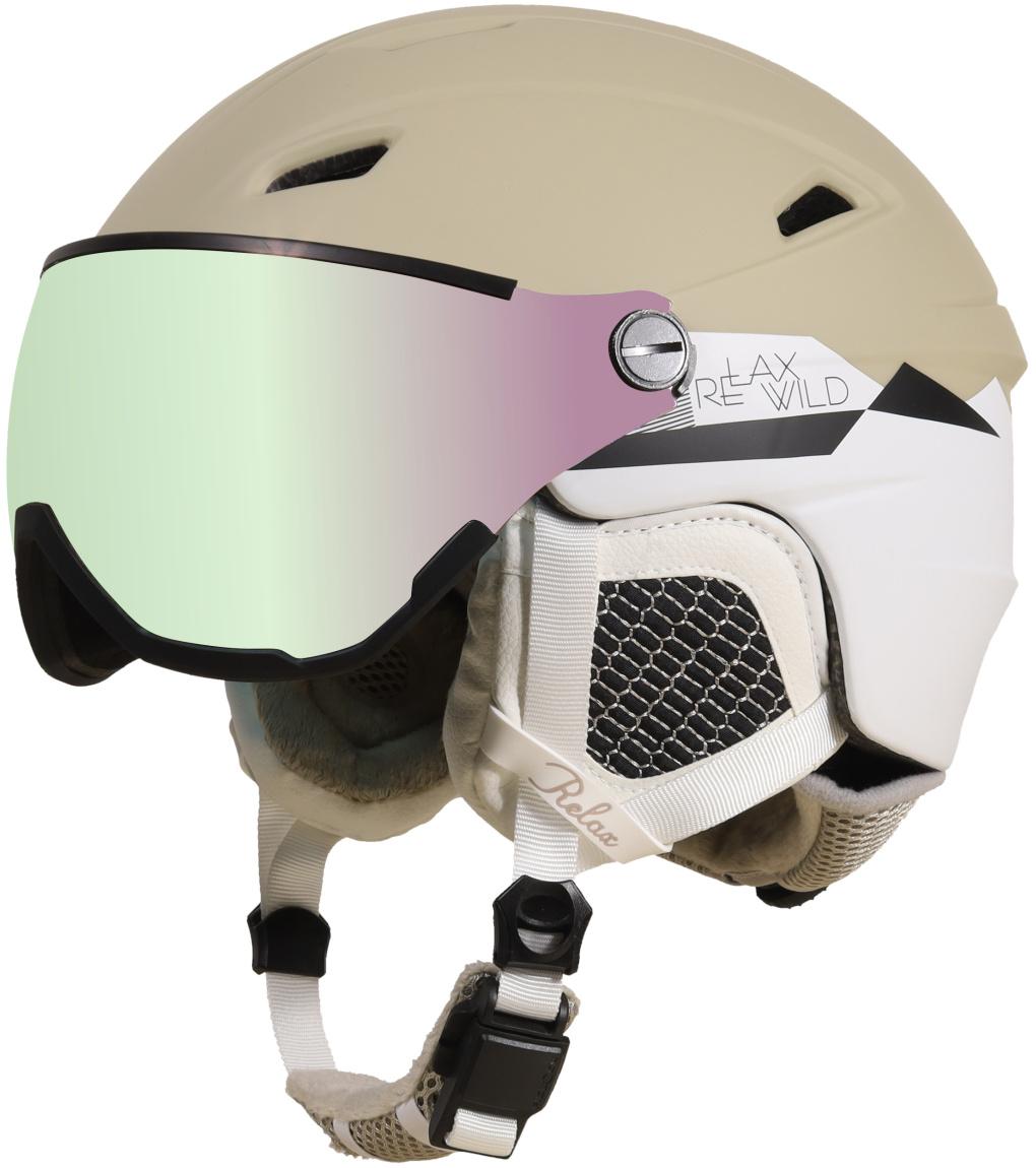 RELAX STEALTH Lyžařská helma RH24K béžová S