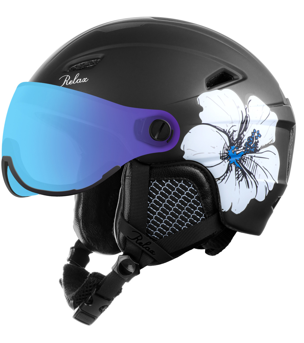 RELAX STEALTH Lyžařská helma RH24N černá S