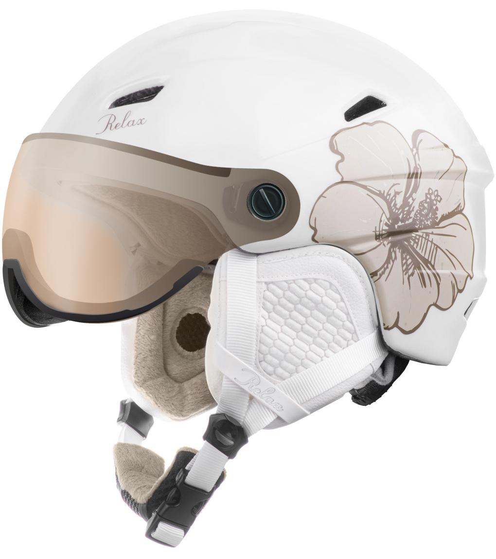 RELAX STEALTH Lyžařská helma RH24P bílá S