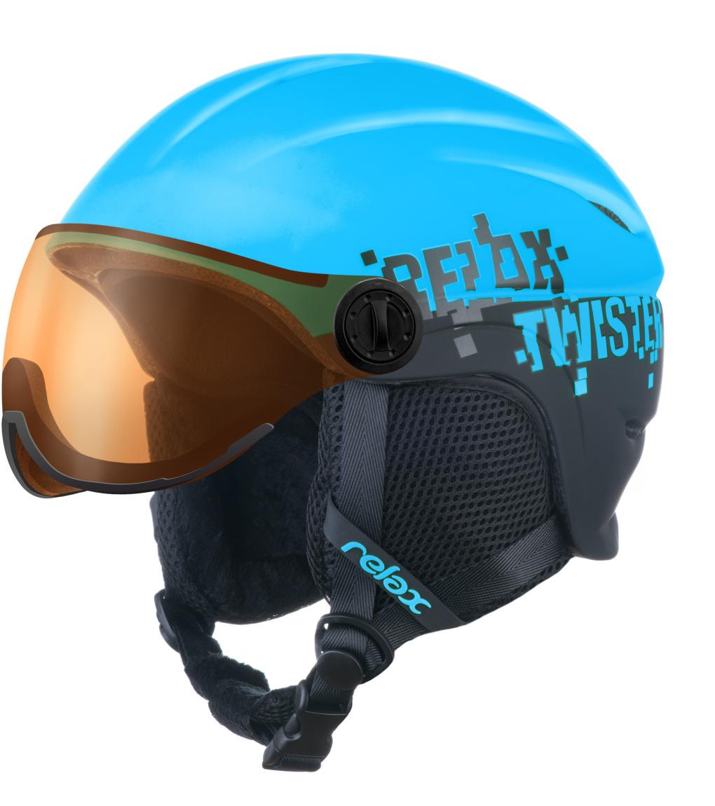 RELAX TWISTER VISOR Lyžařská helma se štítem RH27J modrá S