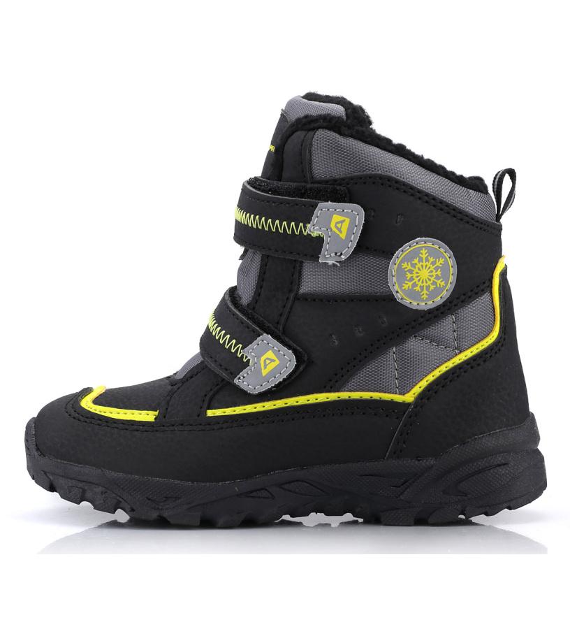 ALPINE PRO KIBBI Dětská zimní obuv KBTK134990 černá 25