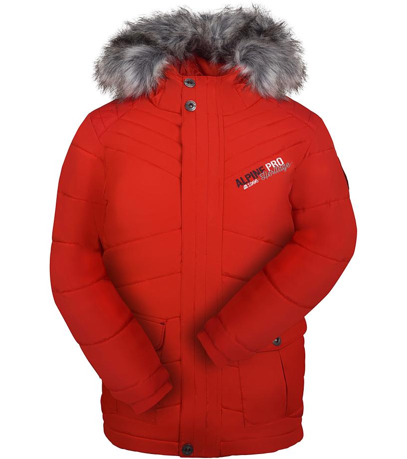 ALPINE PRO ICYBO Dětská zimní bunda KJCK074475 purpurový plamen