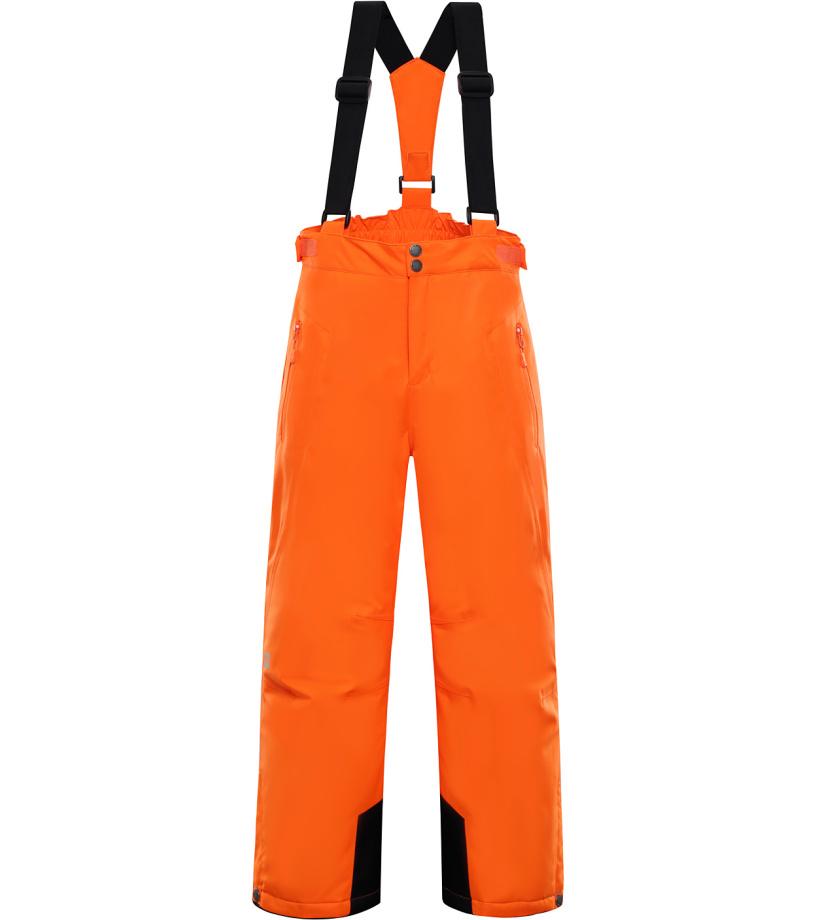 ALPINE PRO ANIKO Dětské lyžařské kalhoty KPAK091343 neon pomeranč 164-170