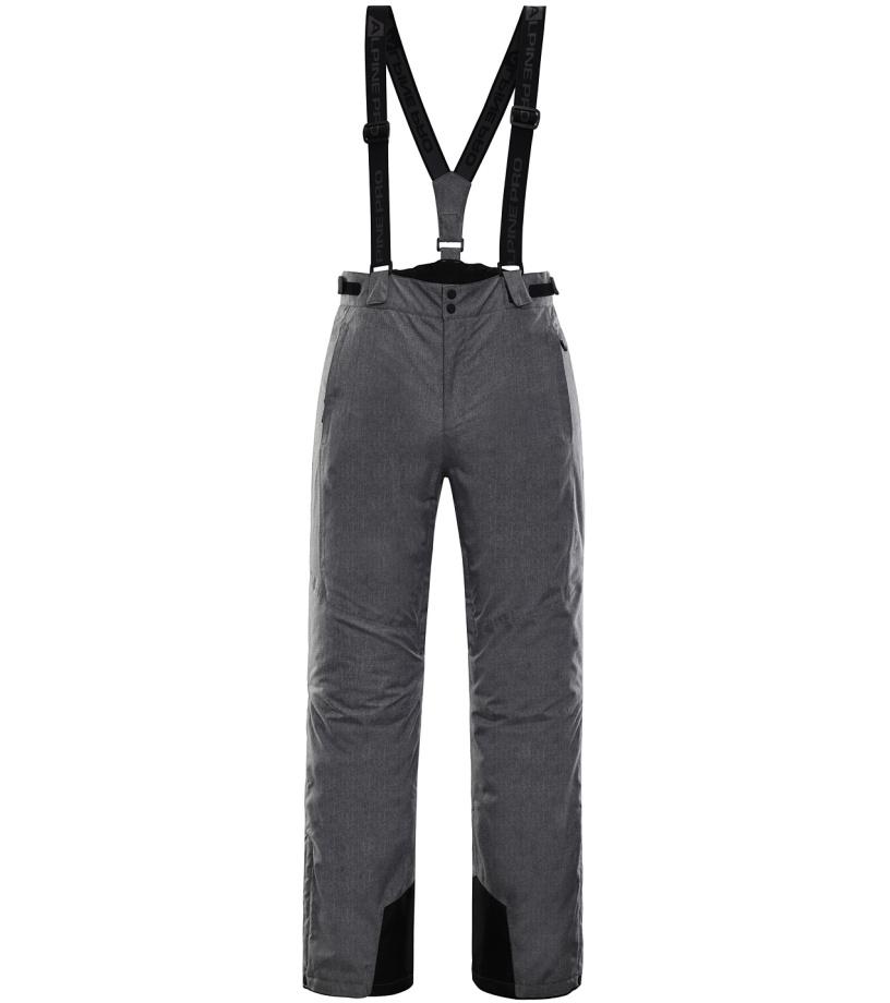 ALPINE PRO SANGO 5 Pánské lyžařské kalhoty MPAK263774 šedá