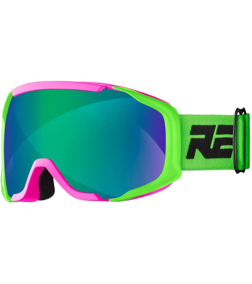 RELAX DE-VIL Lyžařské brýle HTG65A zeleno - růžová univerzální