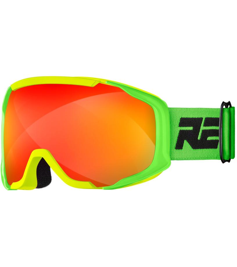 RELAX DE-VIL Lyžařské brýle HTG65 žluto - zelená univerzální