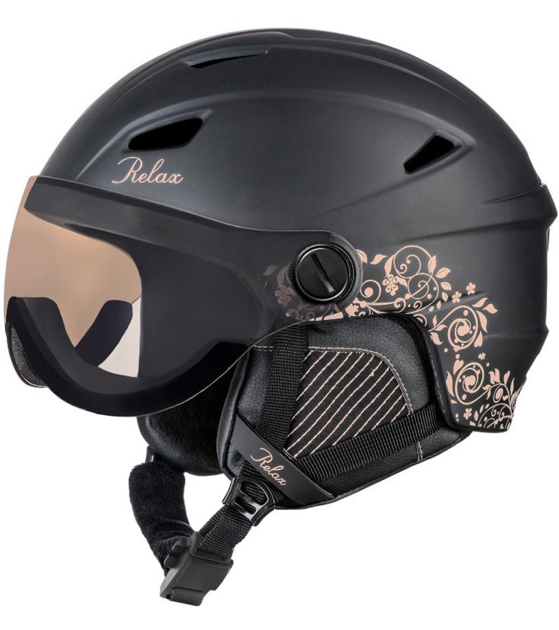 RELAX STEALTH Lyžařská helma RH24G černá S