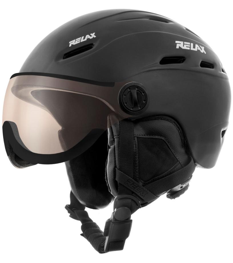 RELAX PREVAIL VISOR Lyžařská helma se štítem RH28A černá L