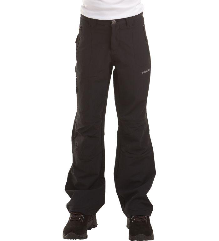 ALPINE PRO Platan Dětské softshell kalhoty KPAA001990 černá 116-122