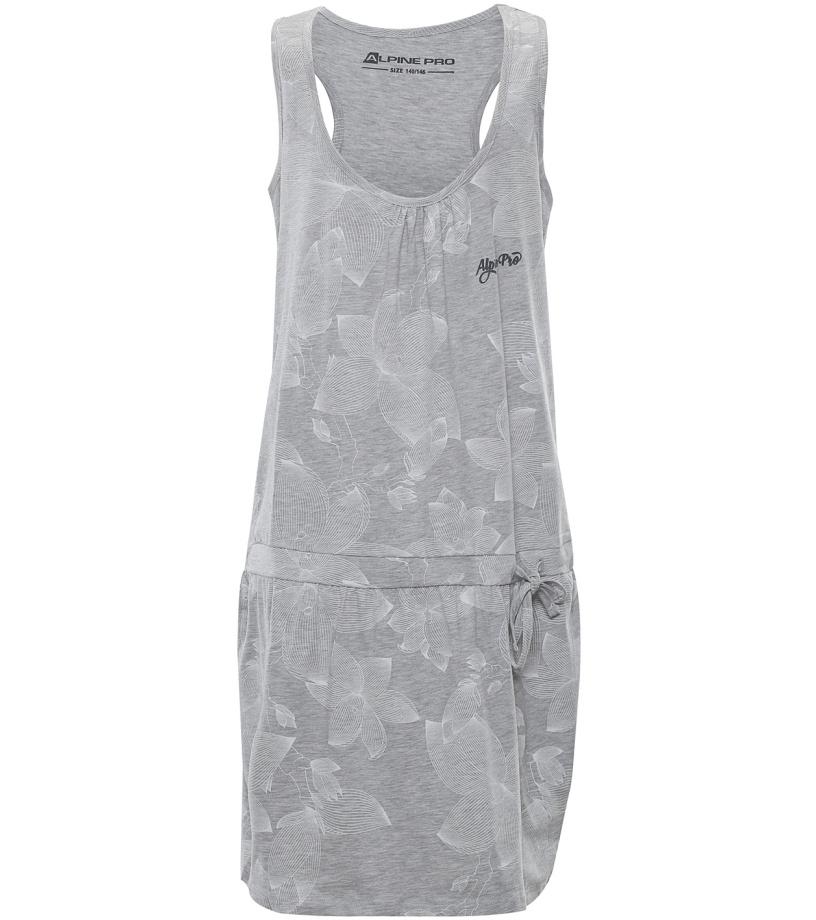 ALPINE PRO KAIKO Dětské šaty KSKL027773PA šedá