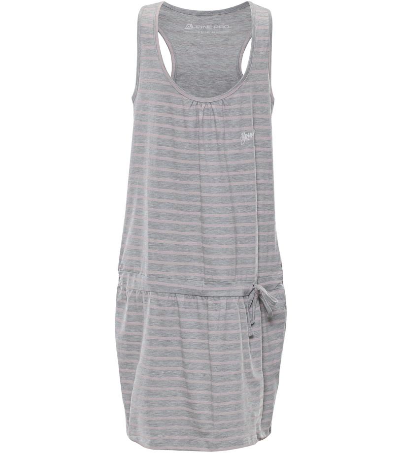 ALPINE PRO KAIKO Dětské šaty KSKL027773PC šedá