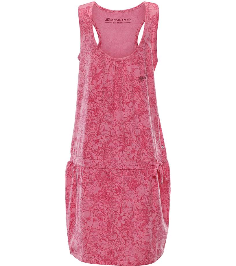 ALPINE PRO KAIKO Dětské šaty KSKL027819PB růžová