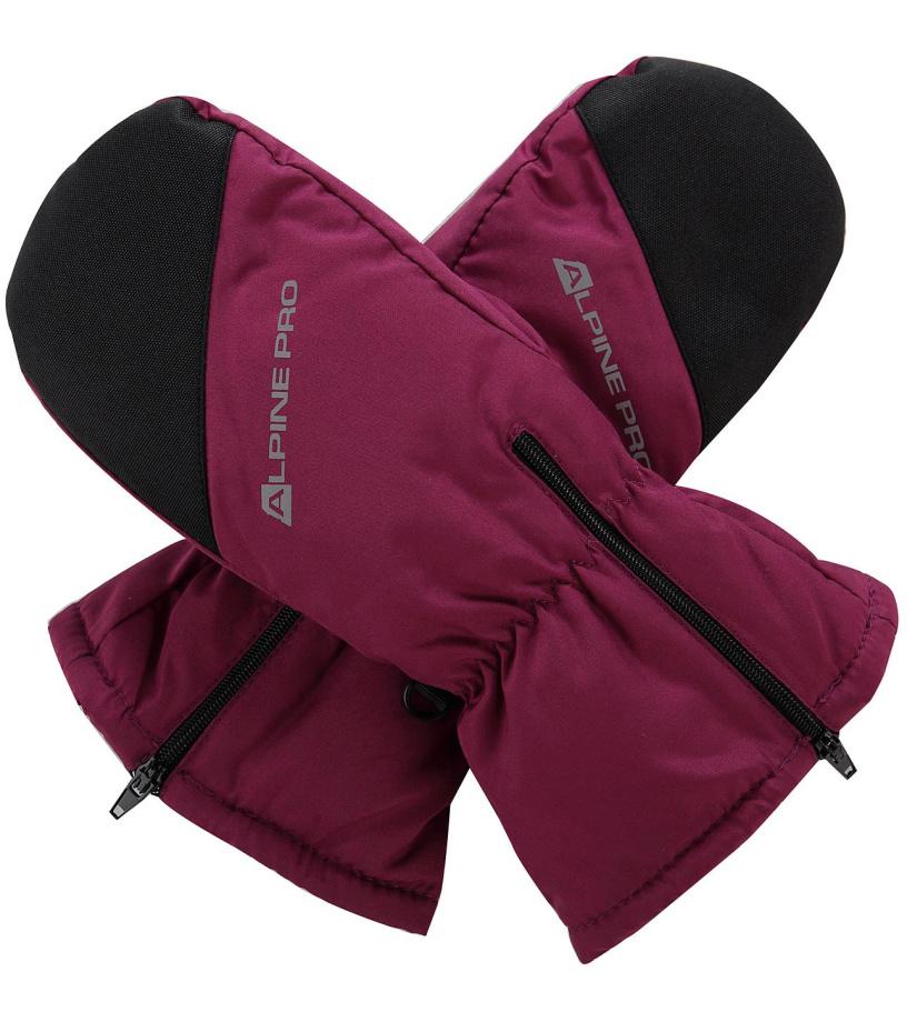 ALPINE PRO HANGO Dětské zimní rukavice KGLM009814 ostružinová