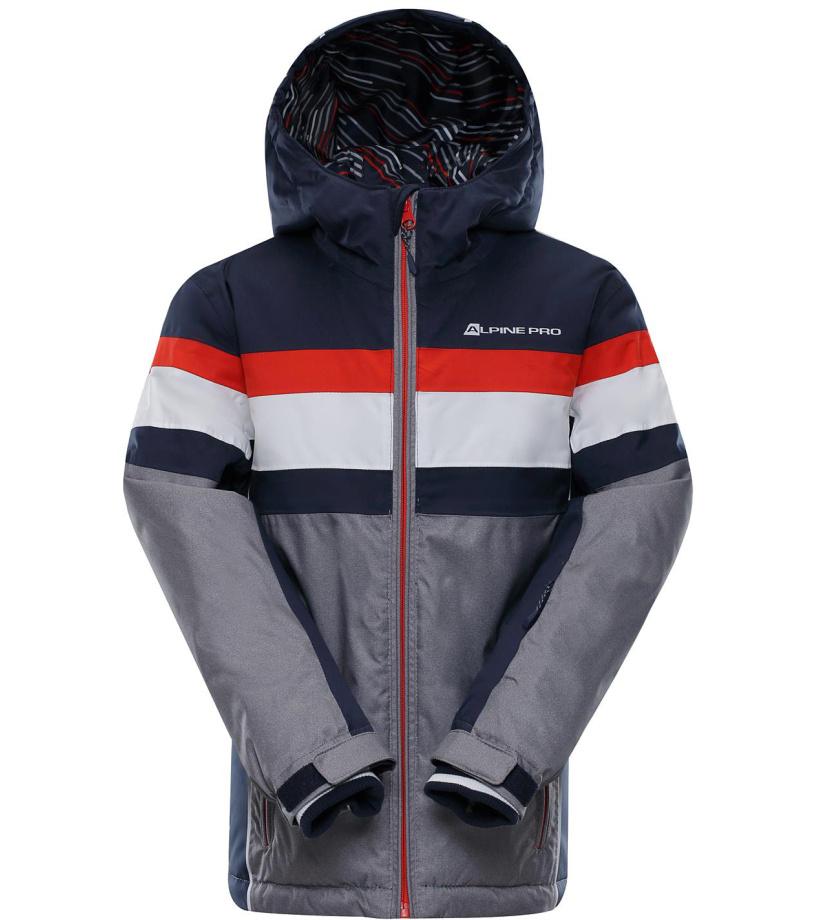 ALPINE PRO WIREMO 2 Dětská lyžařská bunda KJCM121602 mood indigo 116-122